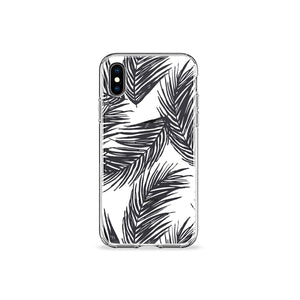 White Palms Clear iPhone Case,CSERA