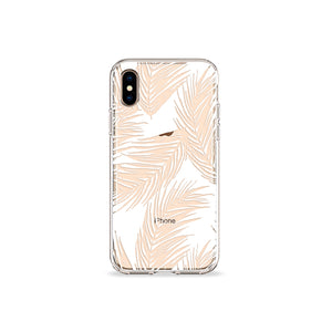 White Palms Clear iPhone Case