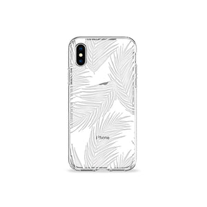 White Palms Clear iPhone Case - bycsera