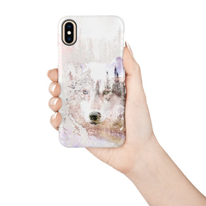 White Paw Snap iPhone Case