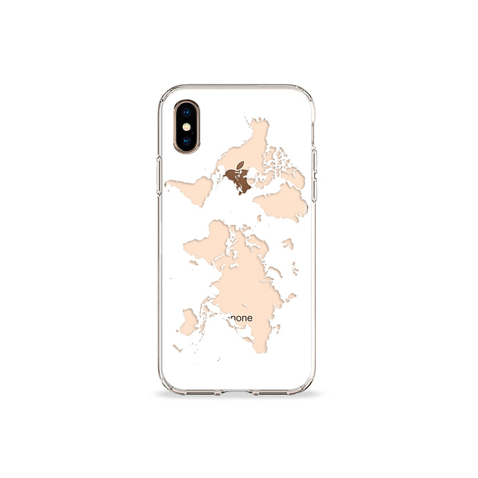 World Map Clear iPhone Case,CSERA