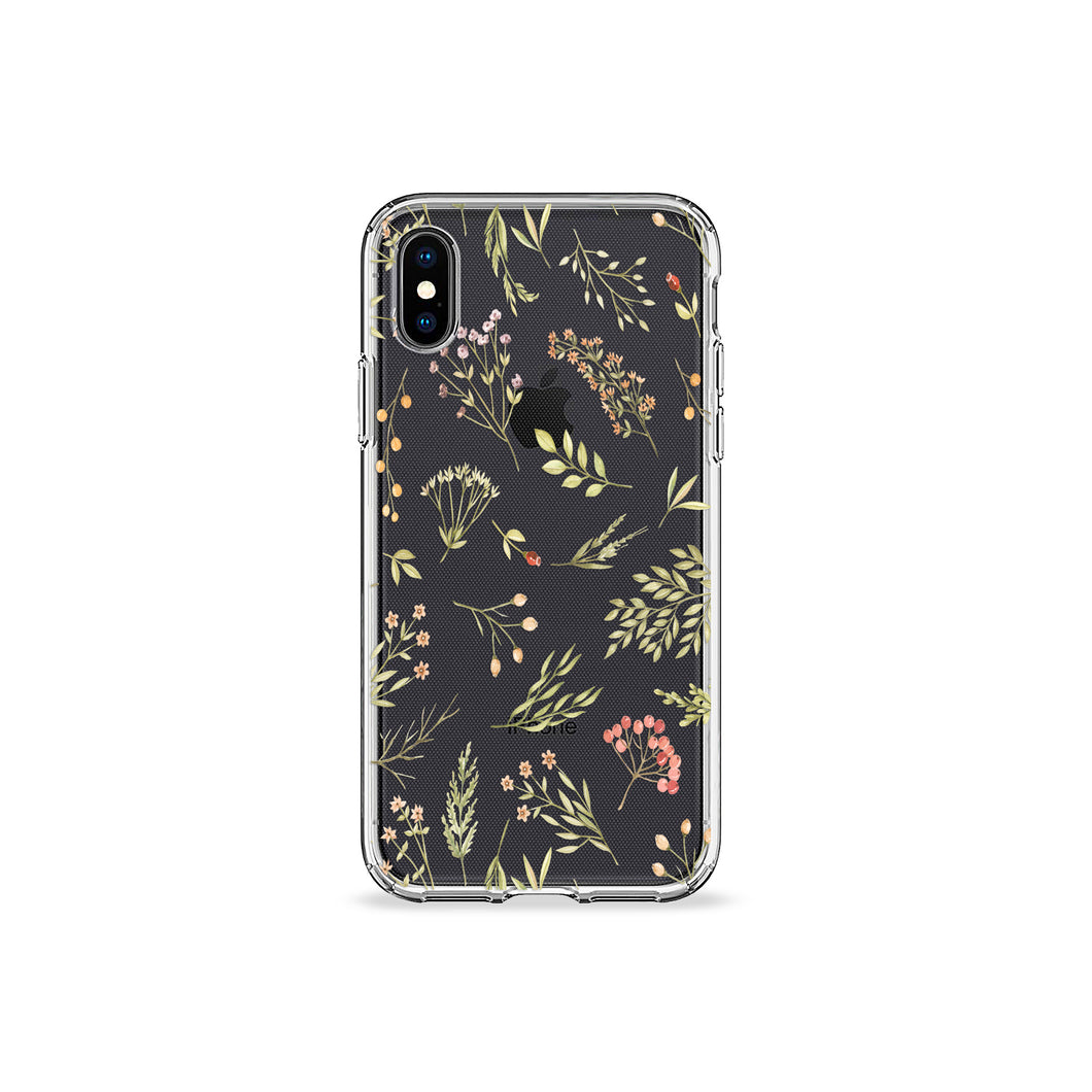 Pressed Wildflowers Clear iPhone Case,CSERA