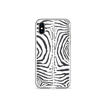 Load image into Gallery viewer, Zebra Print White Clear iPhone Case,CSERA