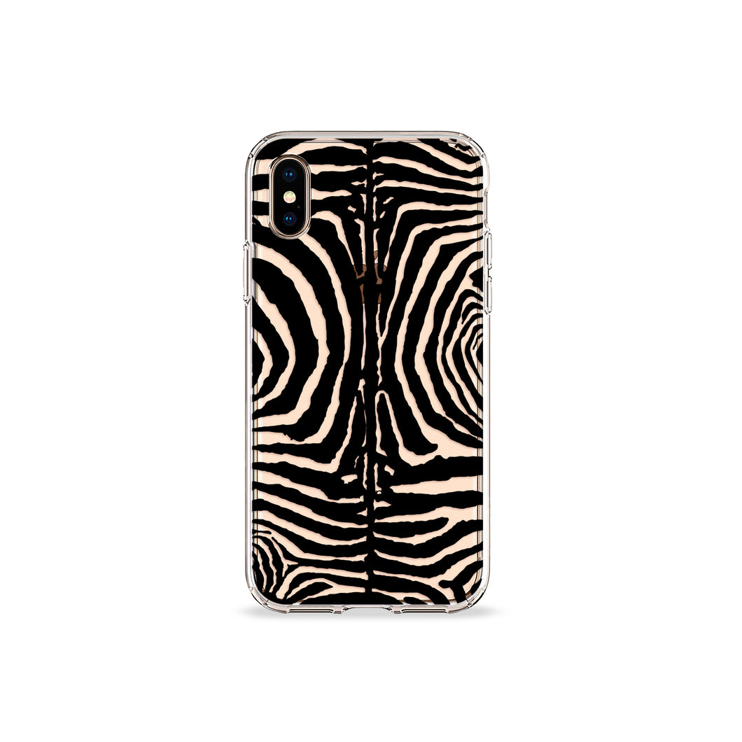 Black Zebra Clear iPhone Case - bycsera