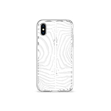 Load image into Gallery viewer, Zebra Print White Clear iPhone Case - bycsera