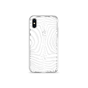 Zebra Print White Clear iPhone Case - bycsera