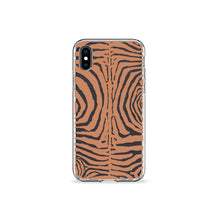Load image into Gallery viewer, Zebra Print Tan Clear iPhone Case,CSERA