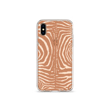 Load image into Gallery viewer, Zebra Print Tan Clear iPhone Case - bycsera