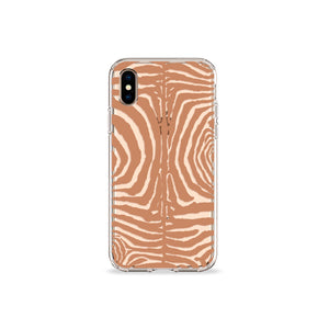 Zebra Print Tan Clear iPhone Case,CSERA