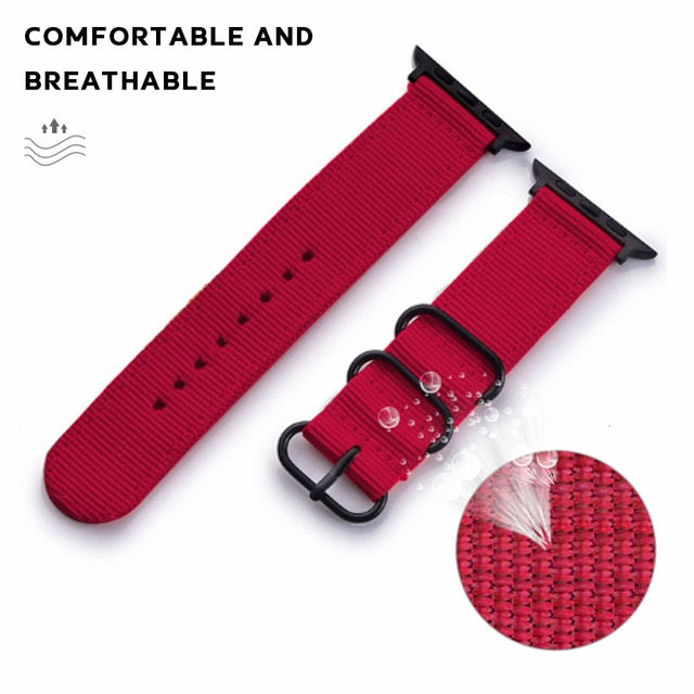 XIYUZHIYI Nylon Sport Leather Strap for Apple Watch