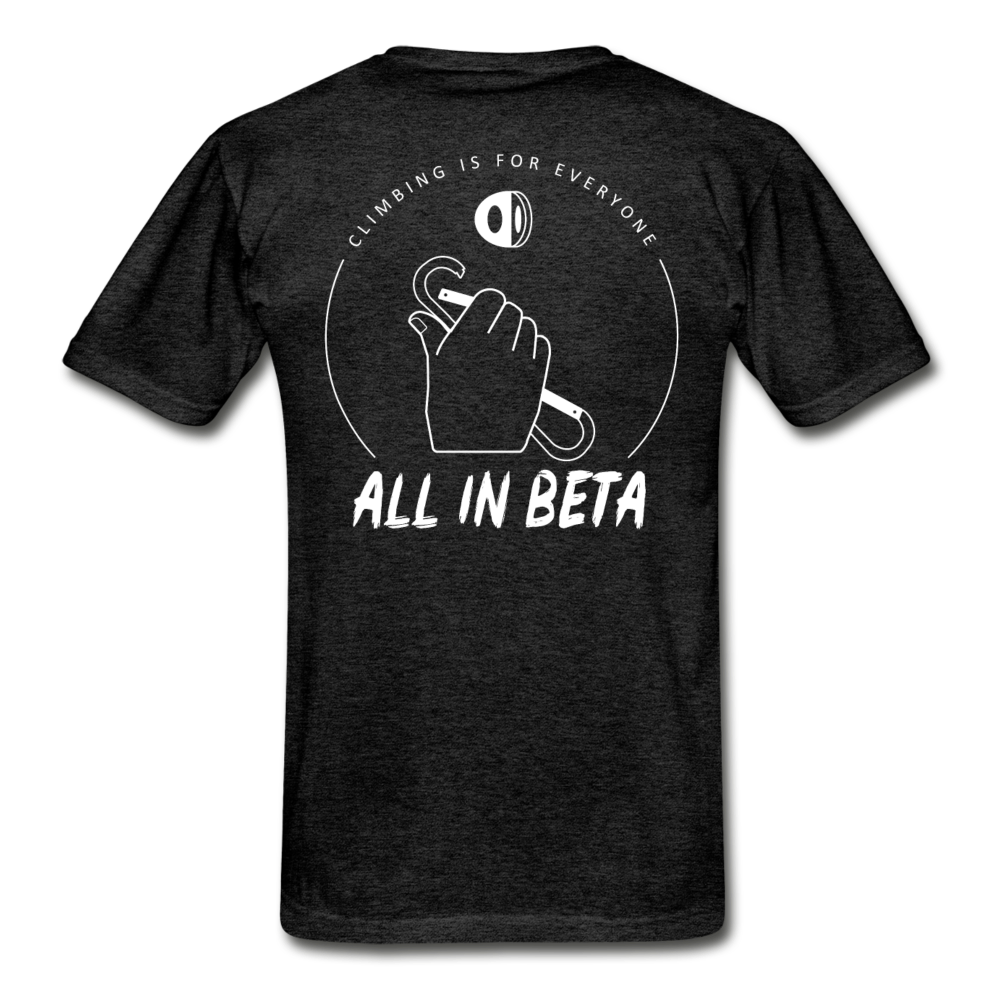 All In Beta - Hanes Adult Tagless T-Shirt - charcoal gray
