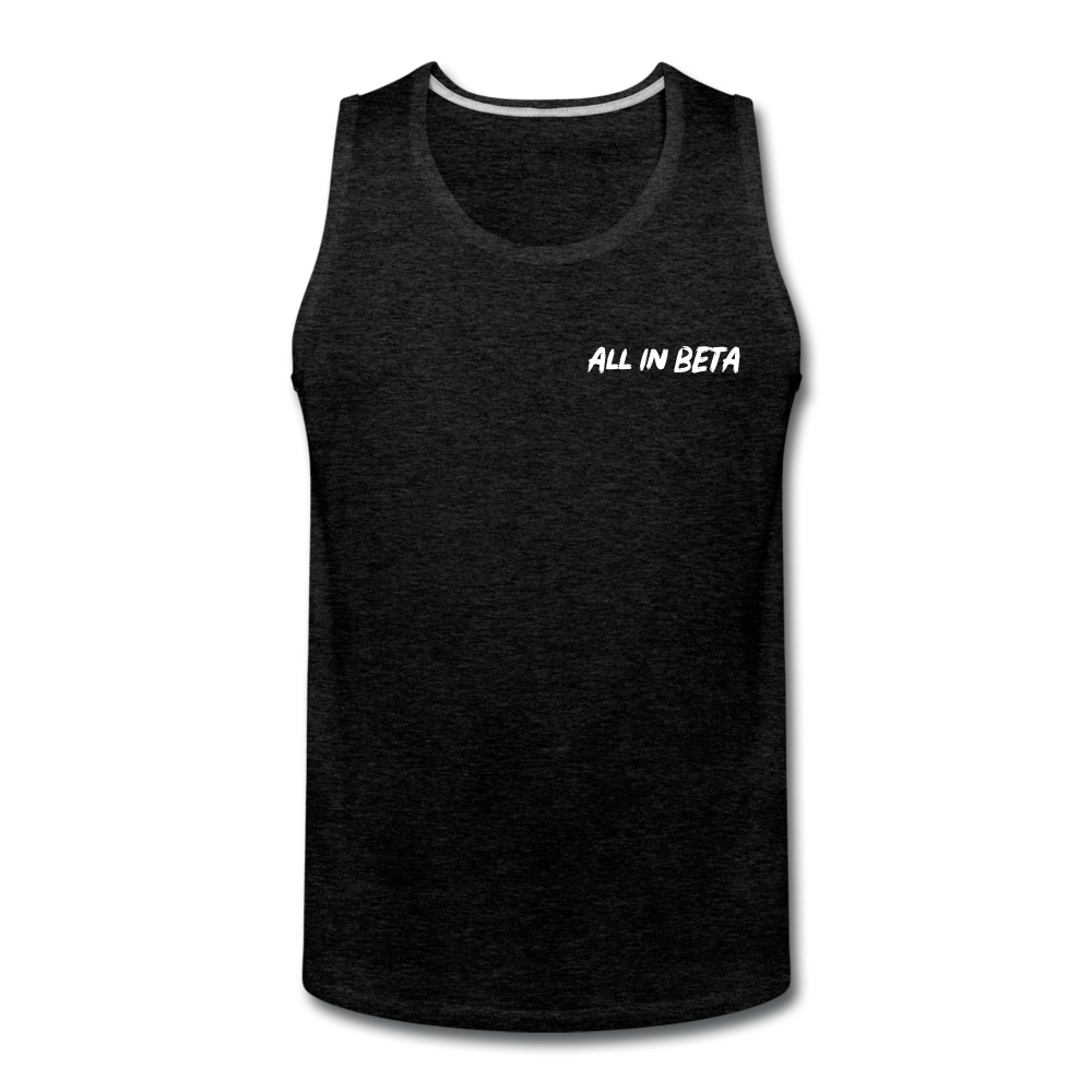 All In Beta - Men's Premium Tank - charcoal gray