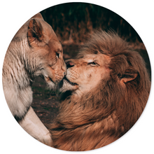 Afbeelding in Gallery-weergave laden, Muurcirkel - Lion couple
