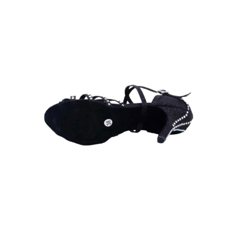 Chaussures Danse Latine Barcelona : Noire & Strass