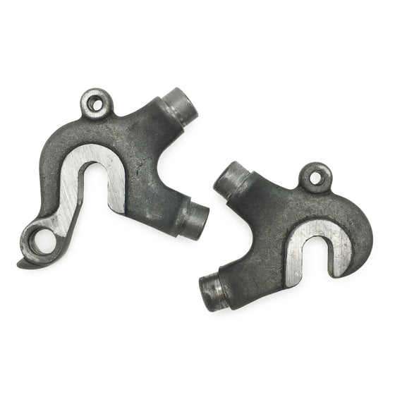 Rear vertical dropouts - plug style - 1 eyelet - 58° seatstay/chainstay angle