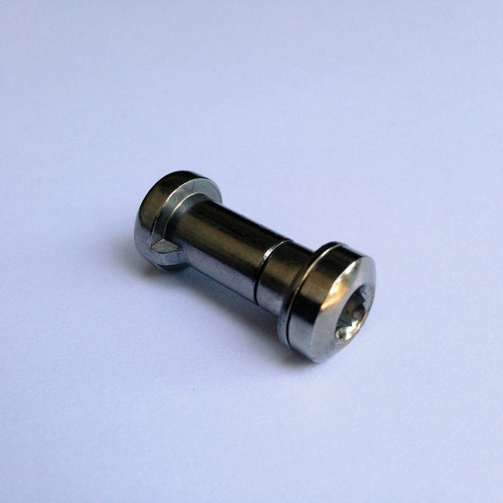 Bicycle seatpost binder bolt - This bolt measures 19mm between the heads.