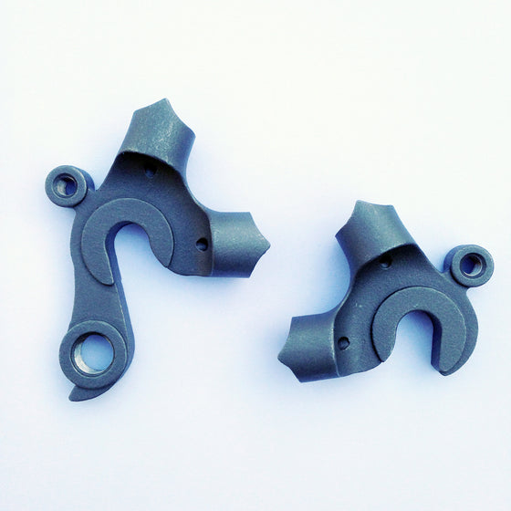 Rear stainless vertical dropouts - lug style for 12.5mm seatstay, 13.2mm chainstay, 72° SS/CS angle