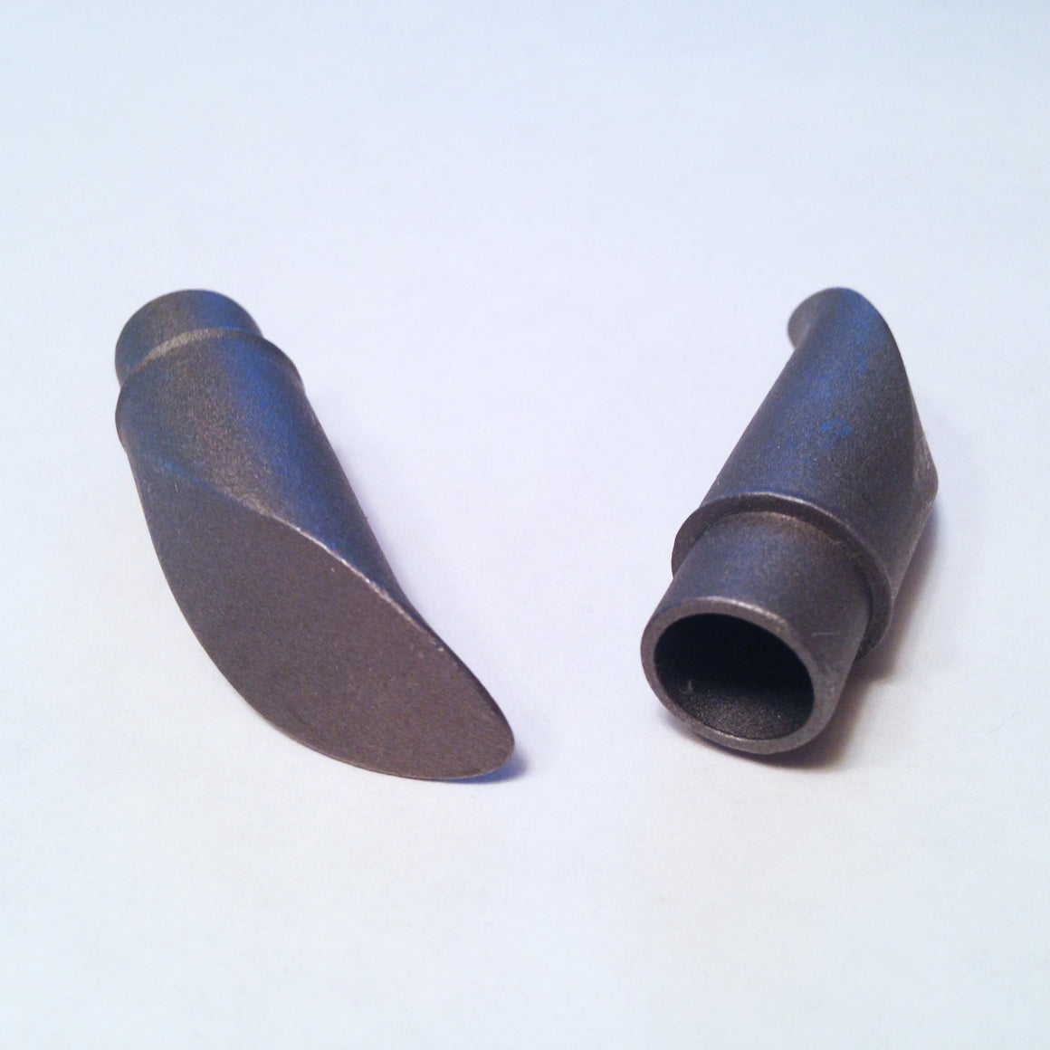 Seat stay tips for use with 12mm interior diameter tubes, curved