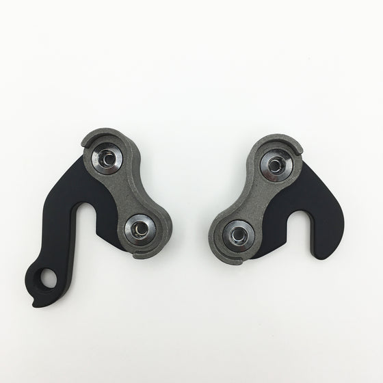 Complete vertical modular dropout set - with/without eyelets (black and silver)