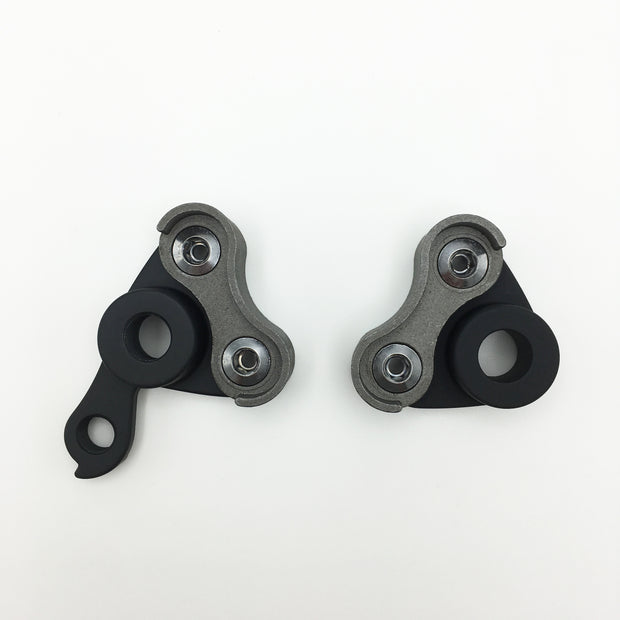 Complete thru-axle modular dropout set - with/without eyelets 142/12 - 1.5 thread pitch
