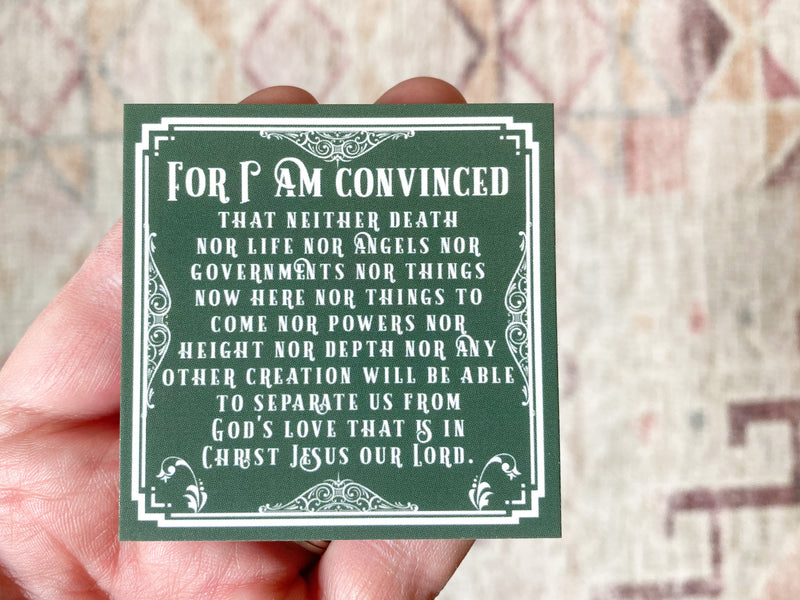 For I Am Convinced Cards
