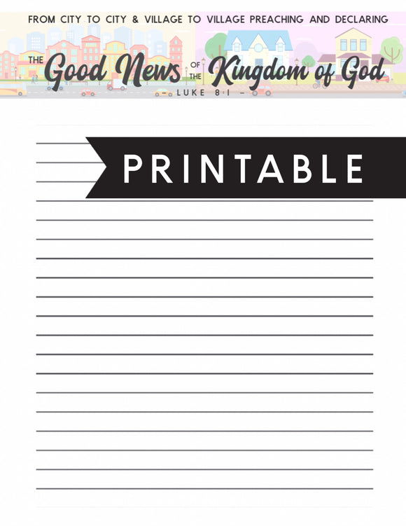 Letter Writing Printable