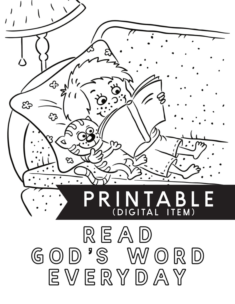 Read Gods Word Everyday Coloring Page