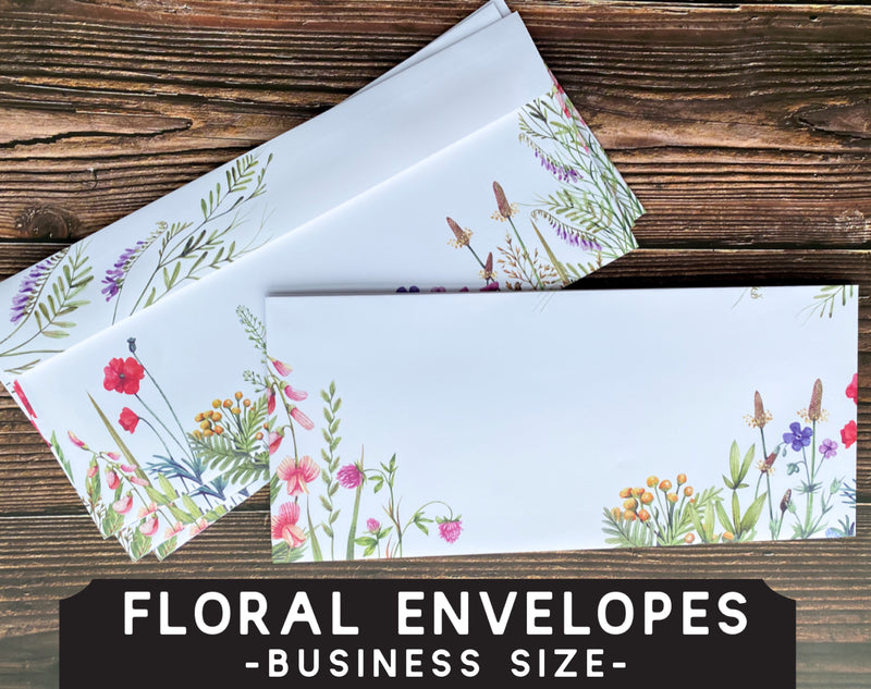 Wildflower Letter Writing Envelopes