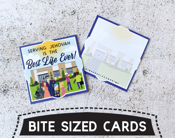 Serving Jehovah is the Best Life Ever Bite Size Cards