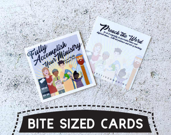 Fully Accomplish Your Ministry Bite Size Cards