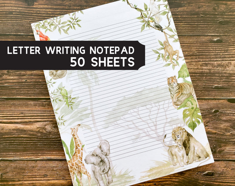 Jungle Letter Writing Notepad