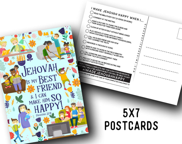 Jehovah is my Best Friend and I Can Make Him So Happy Postcards