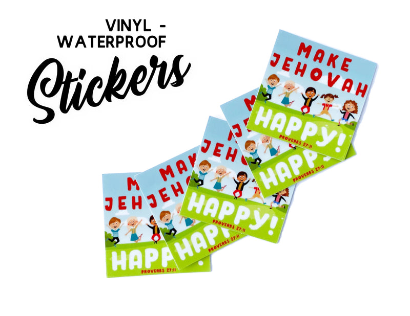Make Jehovah Happy Stickers