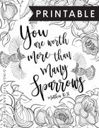 You Are Worth More Than Many Sparrows Coloring Page