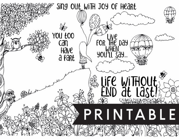 Life Without End At Last Kids Coloring Page