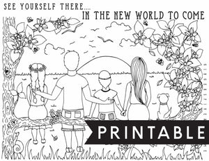 In The New World To Come Kids Coloring Page
