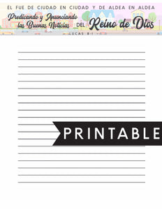 Spanish Letter Writing Printable