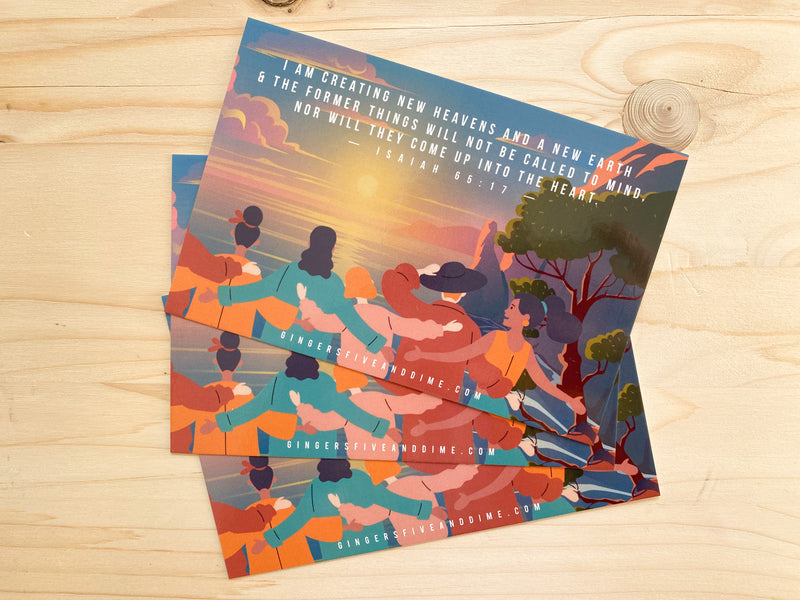 Paradise Collection A New Heavens and a New Earth 4 x 6 Postcards