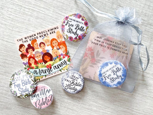 Bible Study & A Large Army Gift Bags - Pins