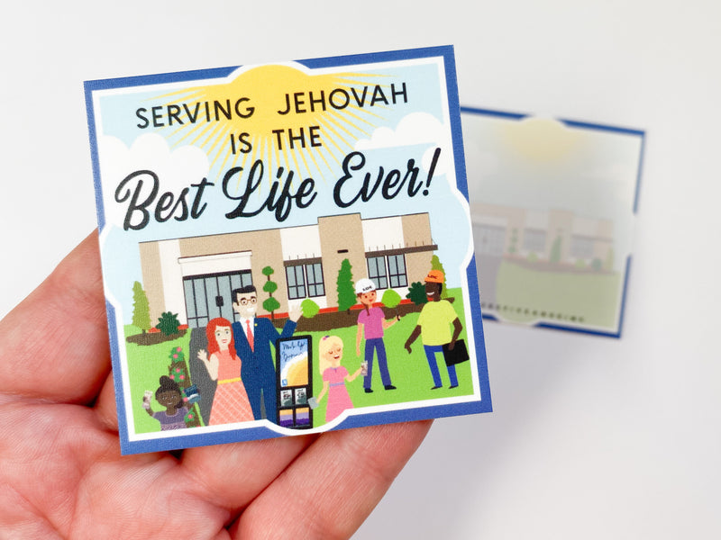 Serving Jehovah is the Best Life Ever Cards