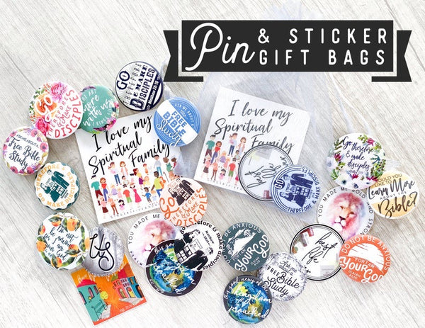 Fully Loaded I Love My Spiritual Family Gift Bags - Pins