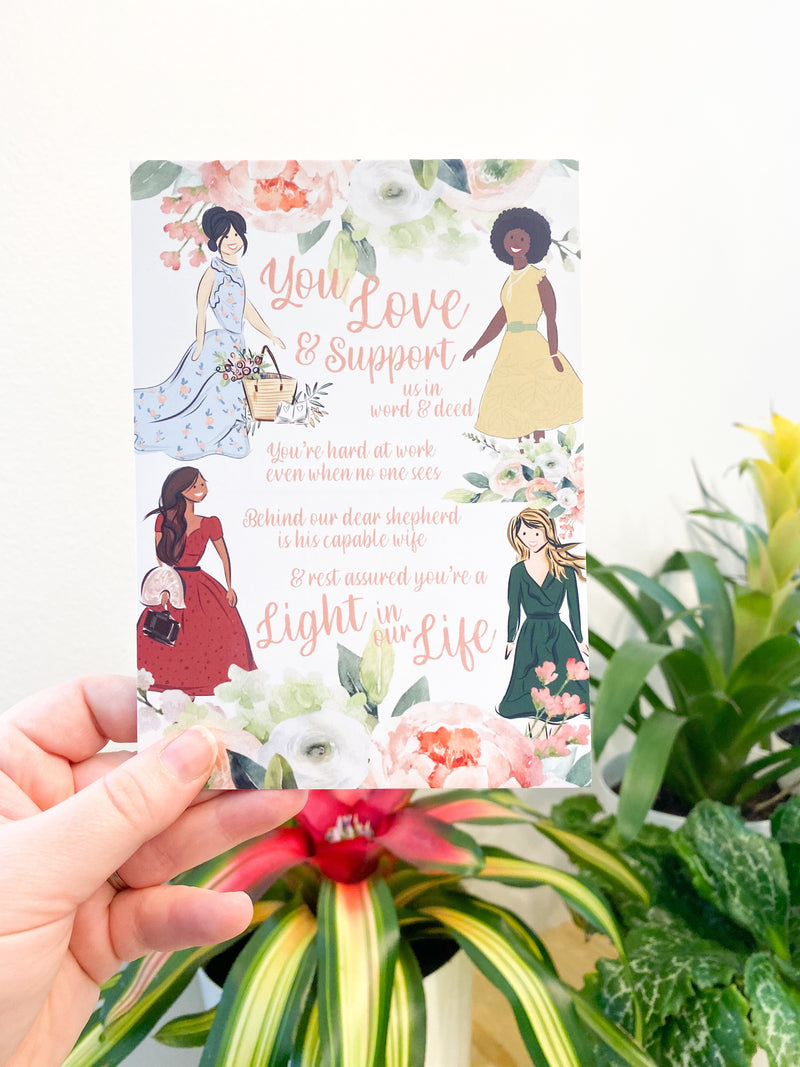Light in our Life Elder Wife Postcards