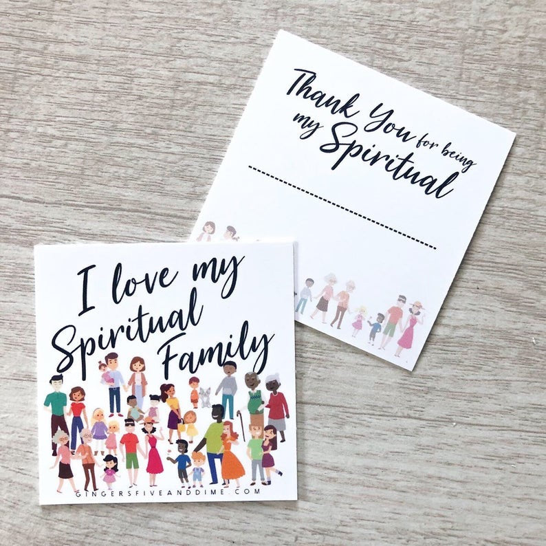 I Love My Spirtual Family Cards