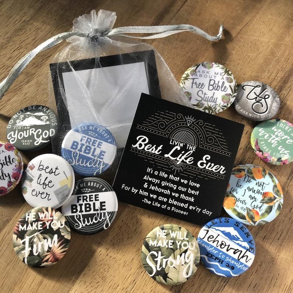Best Life Ever Gift Bags - Mixed Pins