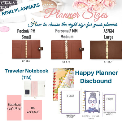 How to choose your Planner Size