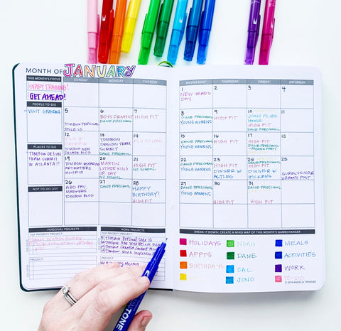 planner color code markers