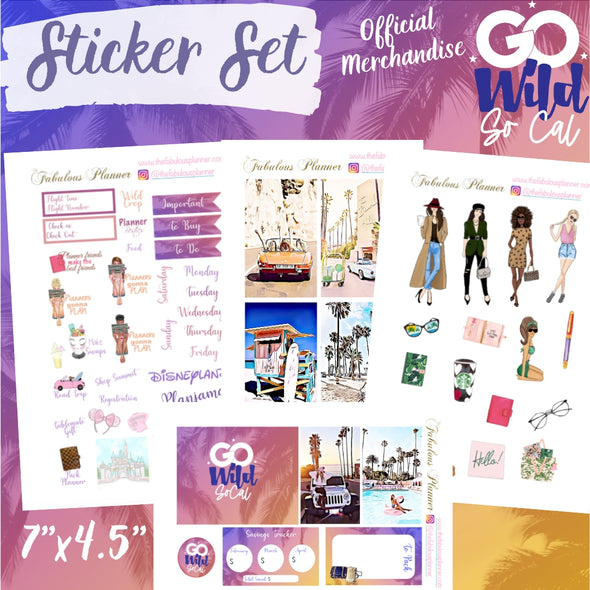 Go Wild Sticker Kit - 4 sheets