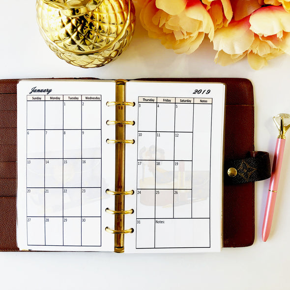 Chic Girl Boss Monthly Planner Combo
