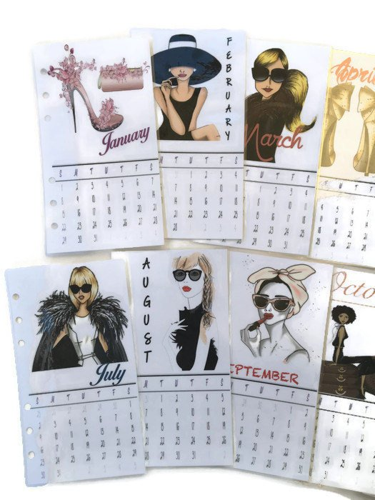 2021 Calendar Dividers - Set of 12