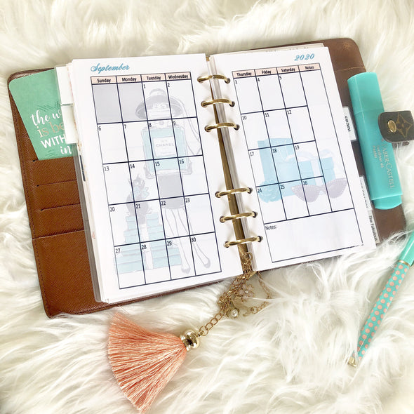 Breakfast at Tiffanys Monthly Planner Inserts